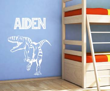 Personalized dinosaur decal wall sticker art decor kids for T rex bedroom decor