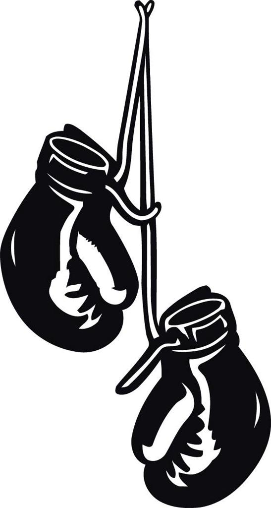 Wall Art Stickers Vector : Boxing gloves hanging decal wall sticker home decor art