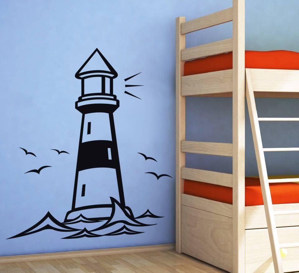 28 Lighthouse Wall Sticker By Leonora Kids Nursery