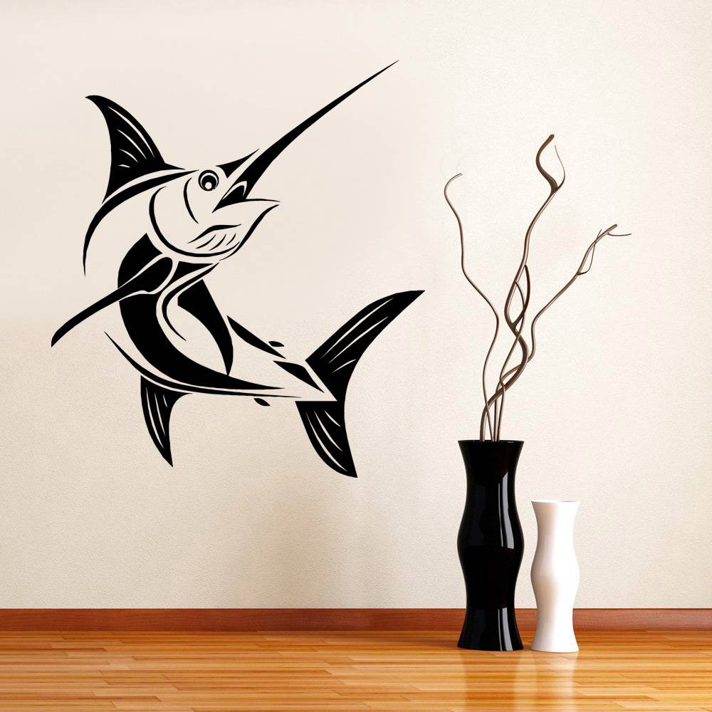 marlin fish decal wall art sticker home all colors sizes