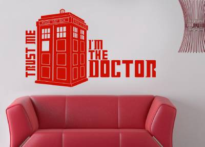 Dr Who Tardis Decal Wall Sticker Home Decor Art All Sizes