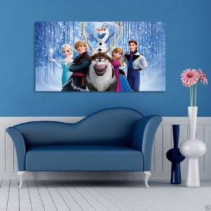 Frozen disney princess canvas print home wall decor art for Anna decoration in home