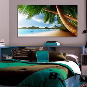 4 Sizes PALM TREE EXOTIC BEACH CANVAS PRINT Wall Decor