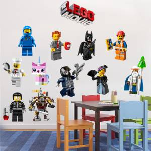 LEGO MOVIE - 11 WALL STICKERS + LOGO