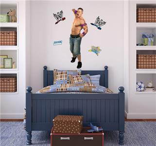 John cena decal removable wall sticker home decor art for Wwe bathroom decor