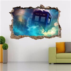 tardis dr who smashed wall decal removable graphic wall sticker art