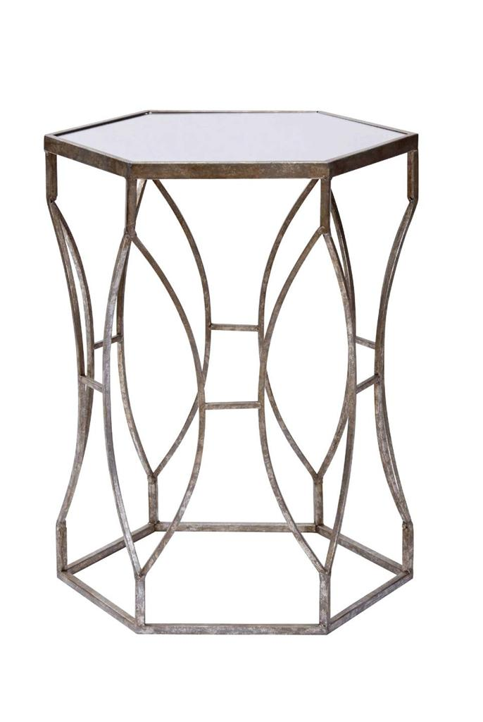 new amalfi massima trendy side table bronze metal round