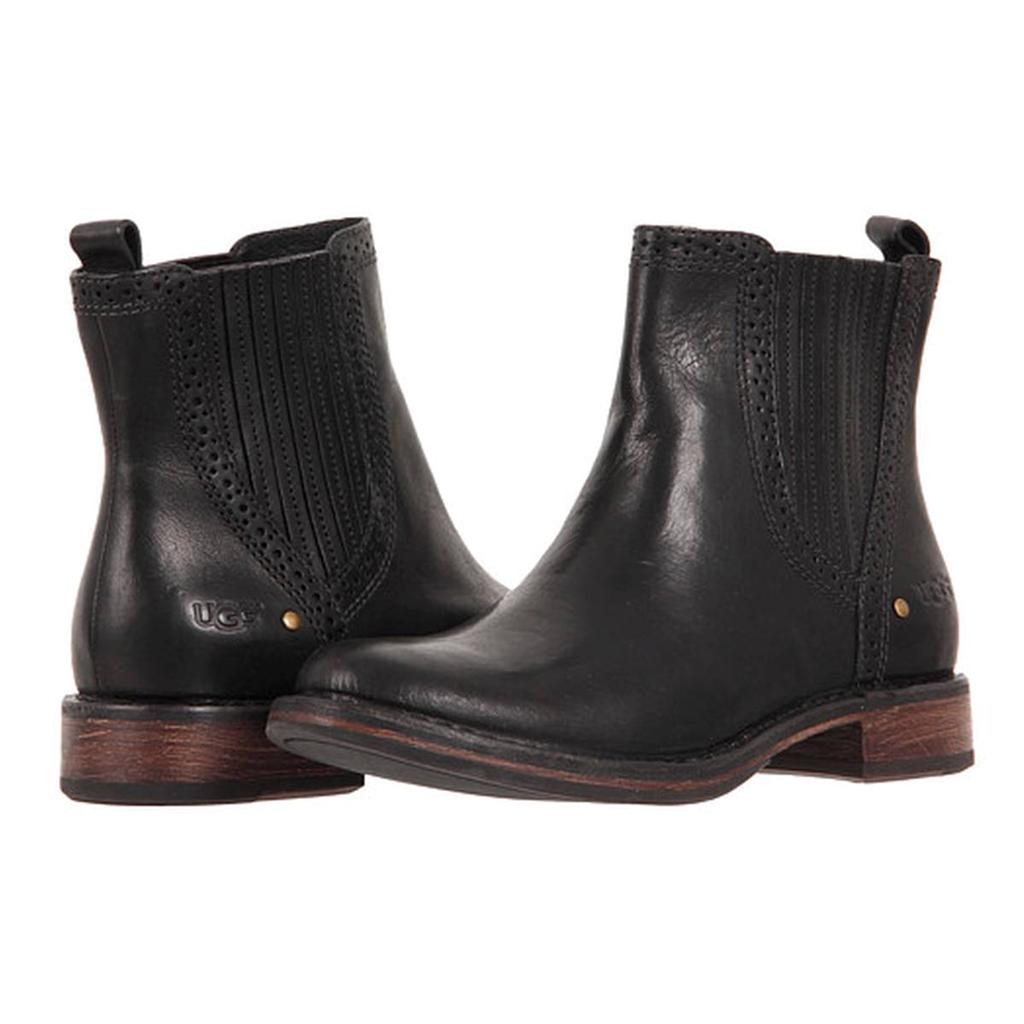 ugg boots black leather ankle boots caraby ugg australia