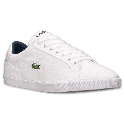 Lacoste-Shoes-Men-White-Graduate-Vulc-PB-Canvas-Trainers-Authentic-New-with-Box