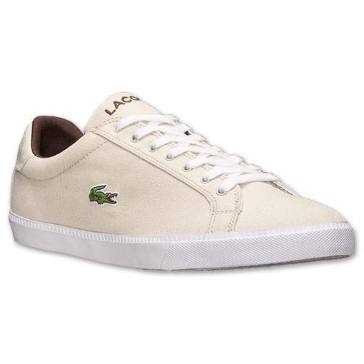 Lacoste-Shoes-Men-Beige-Graduate-Vulc-PB-Canvas-Trainers-Authentic-New-with-Box