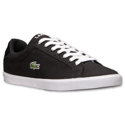 Lacoste-Shoes-Men-Black-Graduate-Vulc-PB-Canvas-Trainers-Authentic-New-with-Box