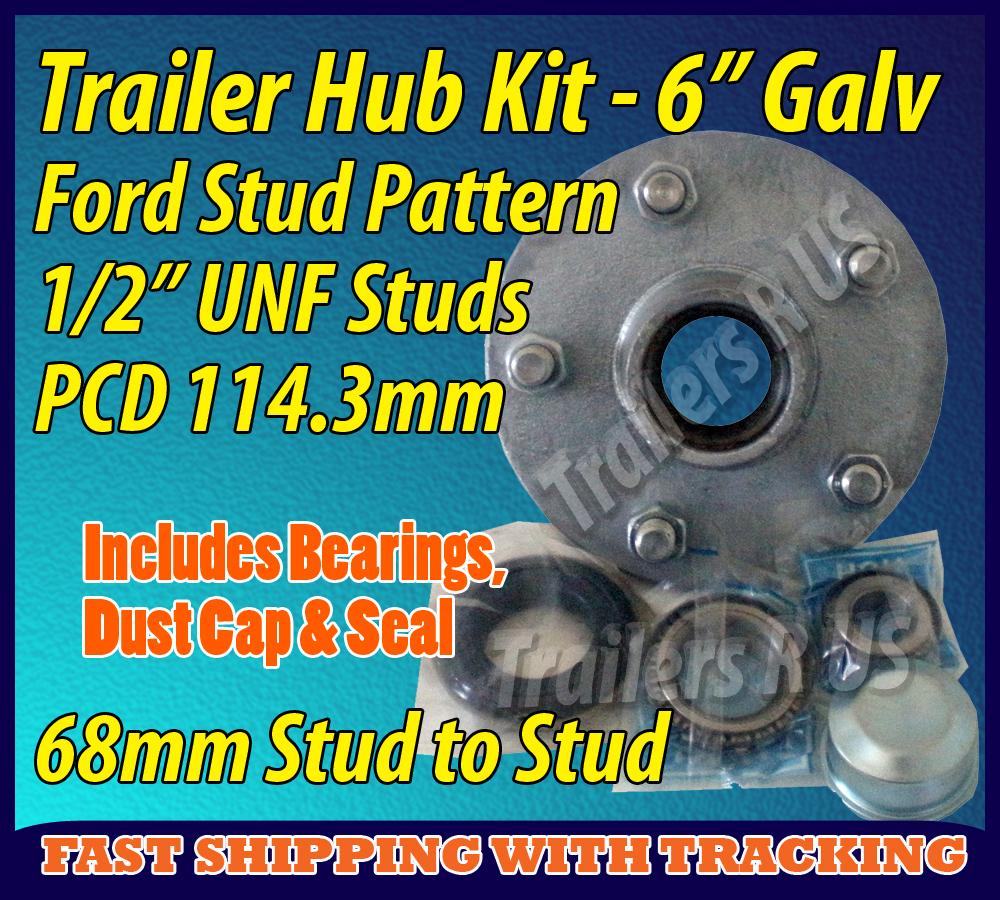 Ford-Wheel-Hub-5-Stud-Trailer-Boat-Caravan-Bearing-Nut-Seal-Cap-Galvanised