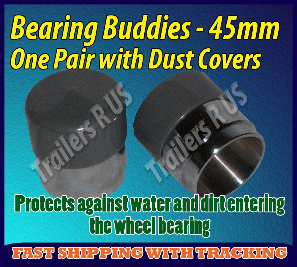 Trailer-Bearing-Buddies-Dust-Cover-Caps-45mm-One-Pair-Protects-from-Water-Dirt