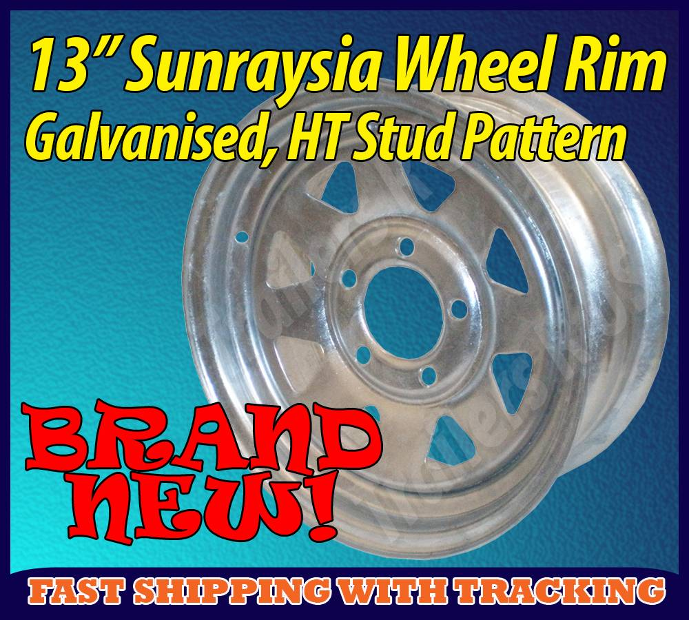 13-Sunraysia-Wheel-Rim-Galvanised-Holden-HT-Stud-Pattern-Trailer-Caravan-Boat