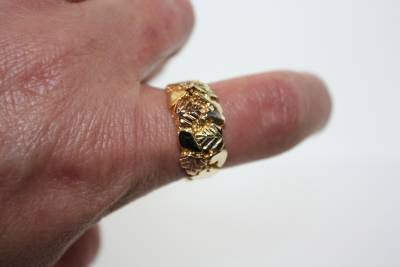 Mens 10kt Black Hills Gold Nugget Band  Ebay. Nice Bangle Bracelets. Most Precious Gemstone. Unique Bangle Bracelets. Antique Jewellery. Pendant Beads. Crossbar Necklace. Double Heart Necklace. Natural Opal Earrings