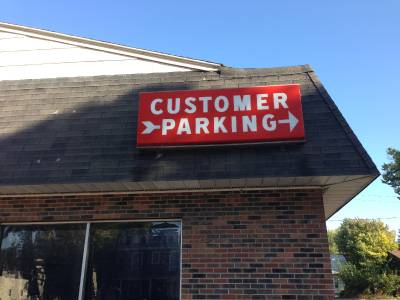 Http Ebay Com Itm Outdoor Commercial Lighted Sign Customer Parking Business Retail Industrial 4x9 161119871347