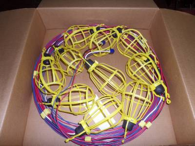 Temporary Temp Construction Light String 10 Sockets 100 Commercial Grade NEW eBay