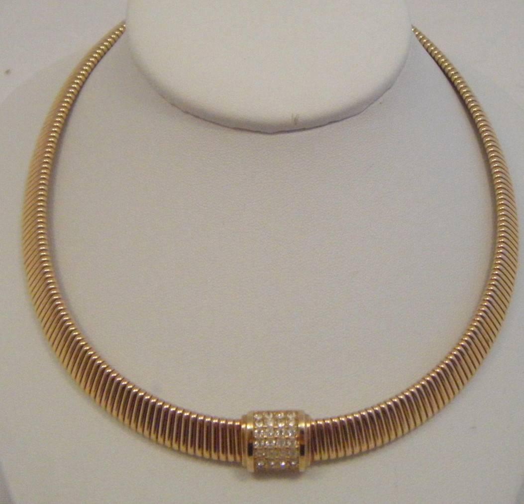 Bijoux Vintage Christian Dior : Vintage s bijoux range faux rhinestone choker