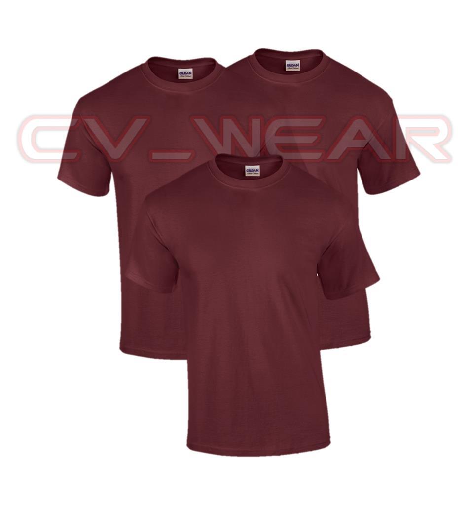 Pack of 3 plain gildan heavy cotton t shirt tshirt men for Plain t shirt pack