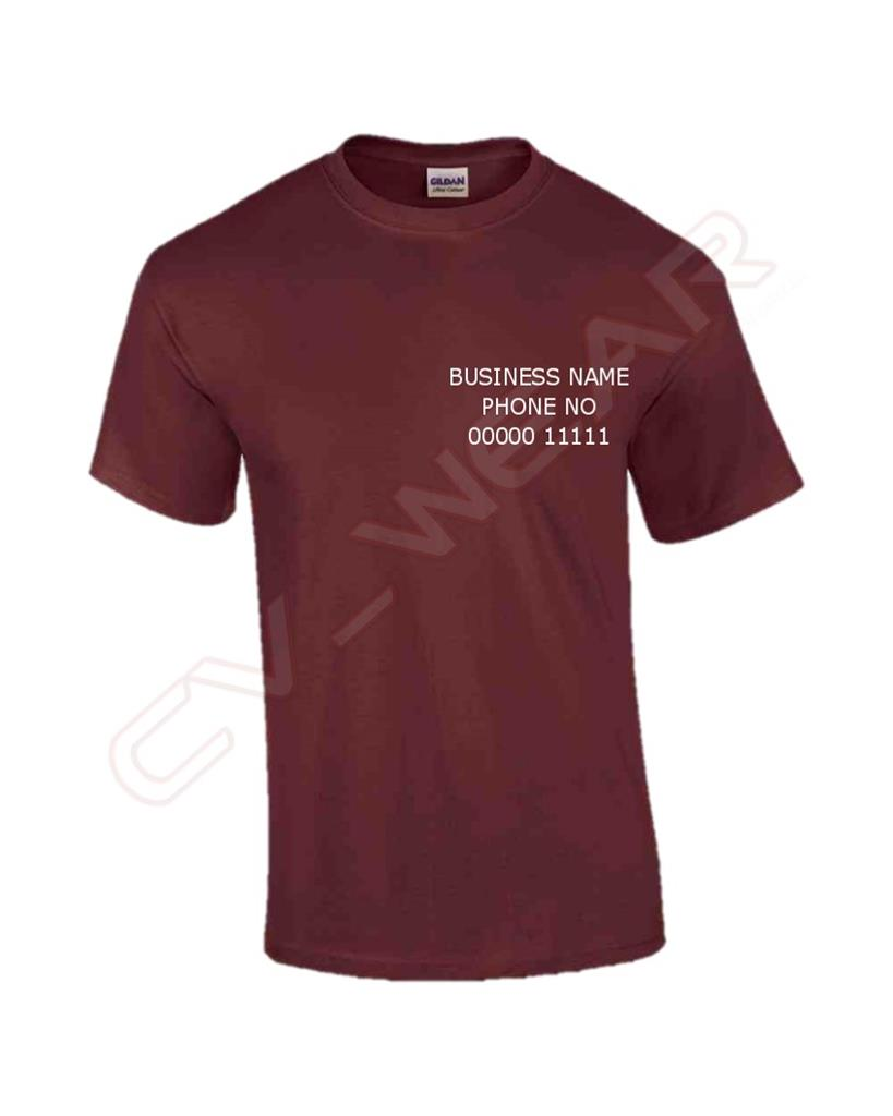 Personalised custom t shirt heavy cotton work wear printed for Custom printed dress shirts