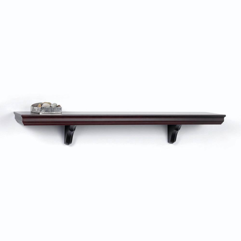 Decorative Wall Shelves Espresso : W manor espresso decorative wall shelf brackets