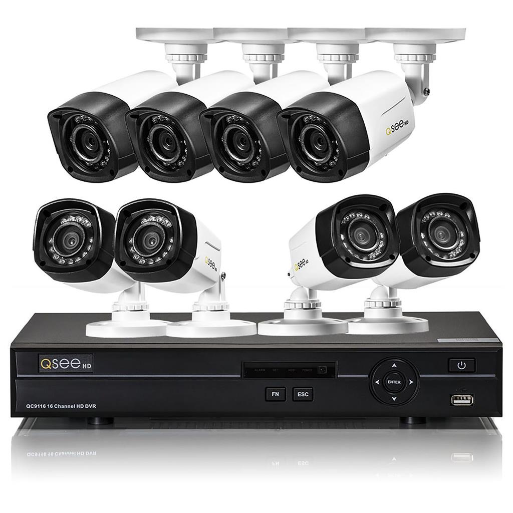 Q See 16 Channel Hd Security System 1tb 8 720p Bullet