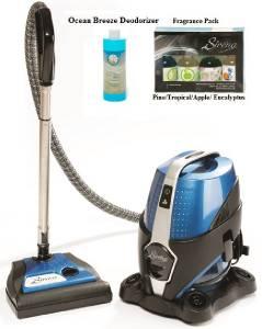 sirena water based vacuum cleaner 2 speed w/ fragrance & ocean