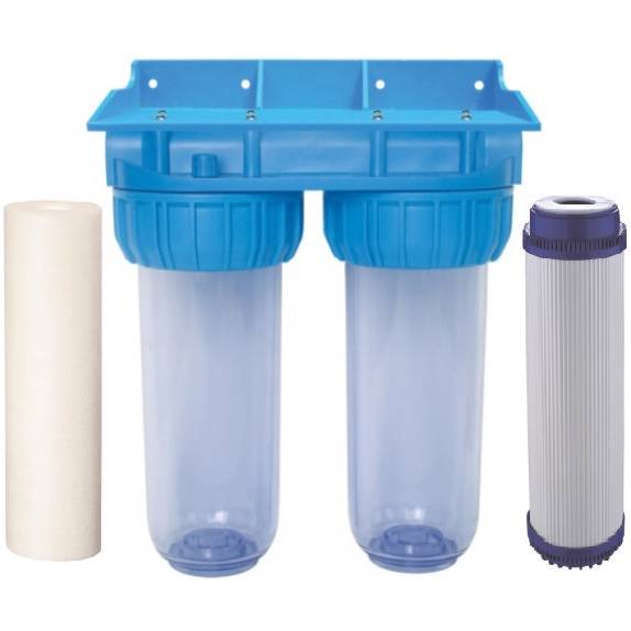 Dual Whole House Water Filter Purifier With Filters Gac