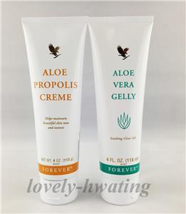 forever living aloe vera gelly aloe propolis skin treatment creme 2 set ebay. Black Bedroom Furniture Sets. Home Design Ideas