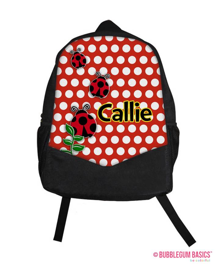 ... ladybug school backpack personalized custom luggage bag tote team gym