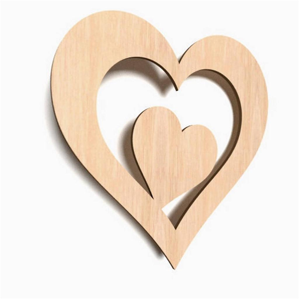 10x wooden heart shape hearts hanging craft wedding blank for Wooden hearts for crafts