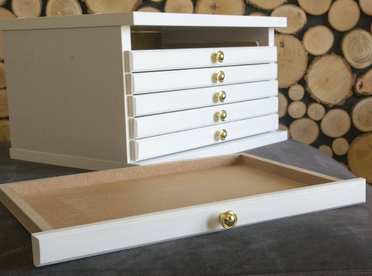 NEW WHITE COIN TRAY COLLECTION CABINET FOR 6 TRAYS COINS MEDALS 6WH