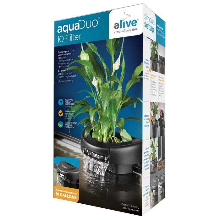 Elive aquaduo 10 gallon led aquarium kit glass fish tank for 10 gallon fish tank kit