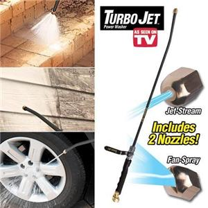 Turbo Jet Power Washer Water Hose Attachment Connects To Any Hose As Seen On Tv