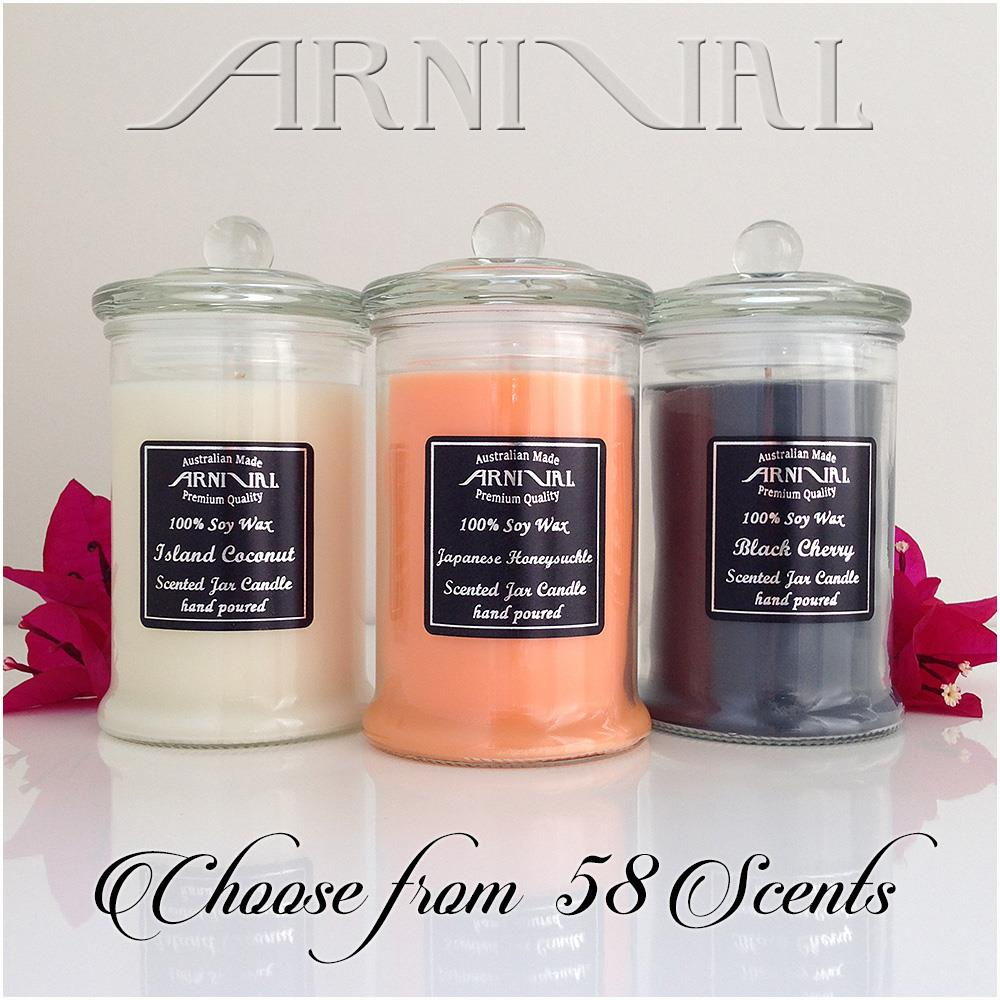Highly scented 100 soy wax candle 55 hour burn time all for Candele on line