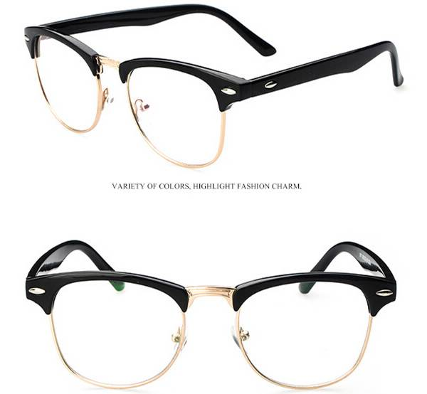 Eyeglass Frames Half Rim : Spectacles Glasses Optical Half-Rim Eyeglass Frame eyewear ...