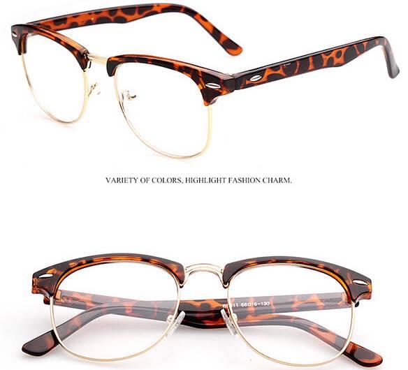 Eyeglass Frame Half Rim : Spectacles Glasses Optical Half-Rim Eyeglass Frame eyewear ...