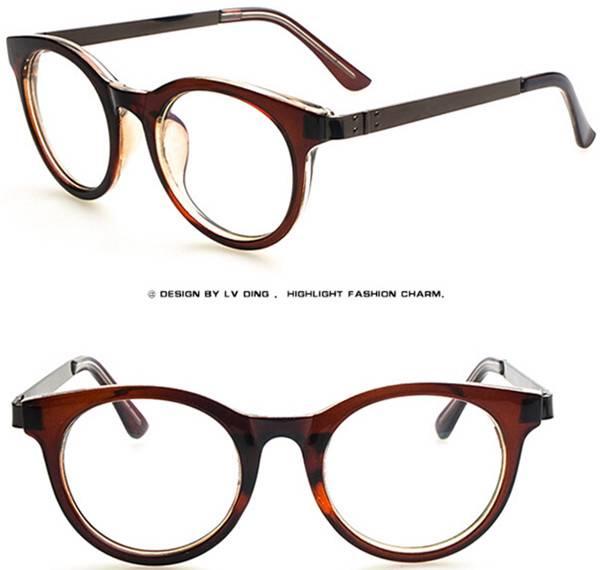 Glasses Frame Personality : personality round cat eye glass frame women men EyeGlasses ...