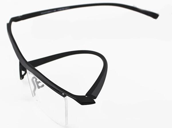 browline glasses TR90 half frame semi-rimless Ultra Light ...