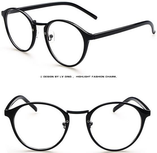 Glasses New Frames Old Lenses : New Fashion Retro Vintage Round Frame Eyeglasses Clear ...