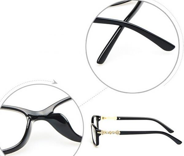 Eyeglass Frame Numbers Mean : black Vintage Eyeglass Women Eyeglasses Frames Eyewear ...