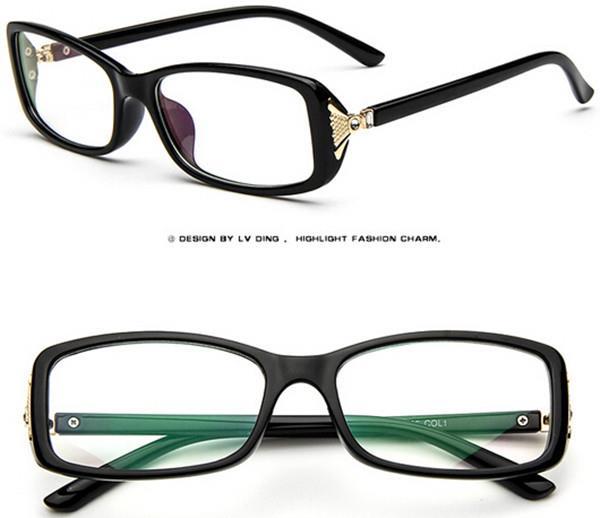 Eyeglass Frame Color : colors Fashion Women Eyeglass Frame Full Glasses Eyewear ...