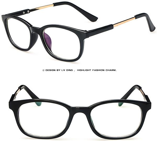 Optical Glasses Numbers : Men Women Vintage Eyeglass Frame Glasses Spectacles Clear ...
