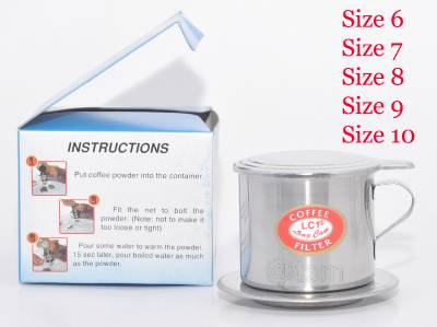 Vietnamese Coffee Filter Press Maker -Stainless Steel / Full Size 6-7-8- 9-10 eBay