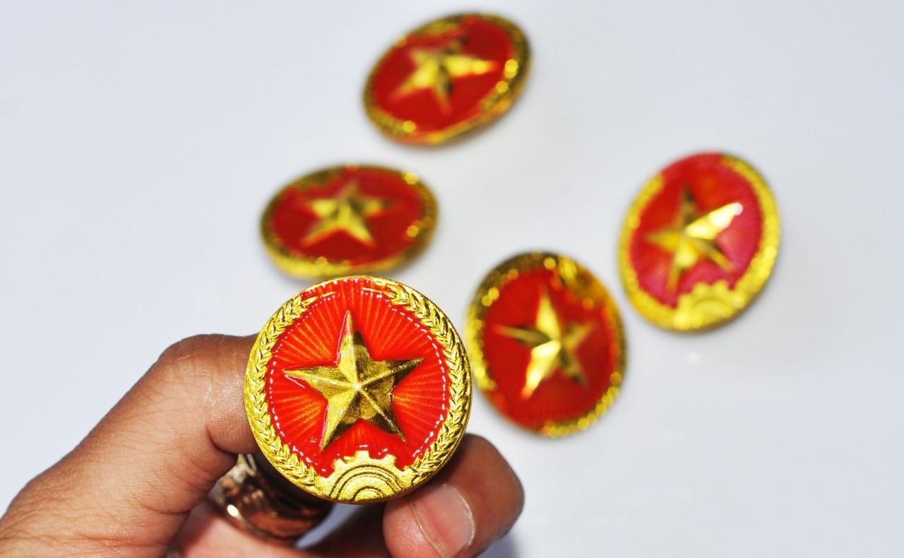 Helmet Star Pin Large Pin Nva Vc Vietcong Vietnam