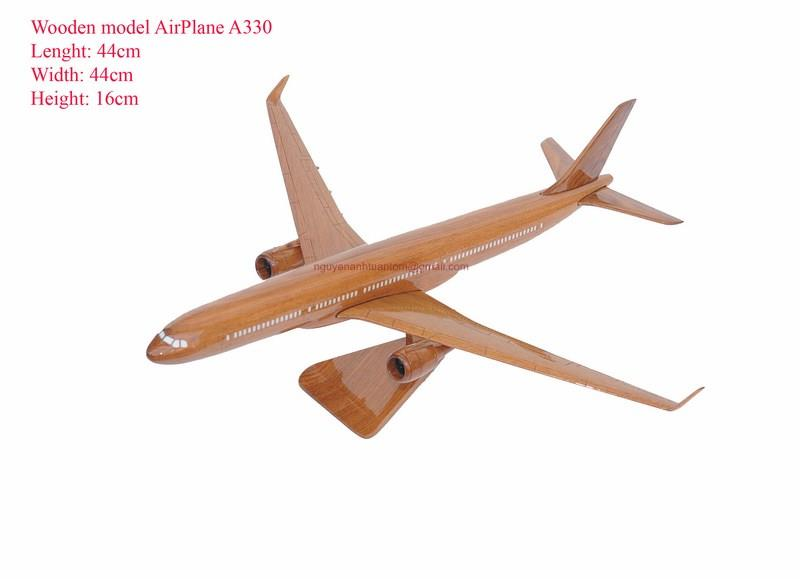 Airbus 330 Wooden Airplane Model Handmade Beautiful