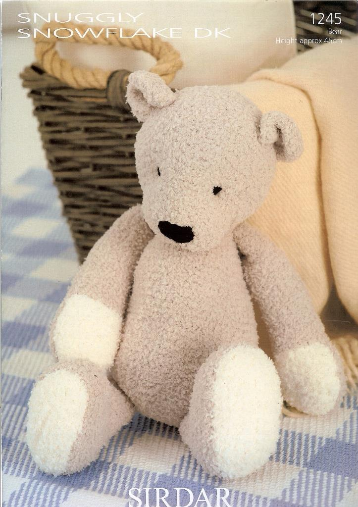 Sirdar Toy Knitting Patterns : 1245 SIRDAR SNUGGLY SNOWFLAKE DK KNITTING PATTERN TOY TEDDY BEAR eBay