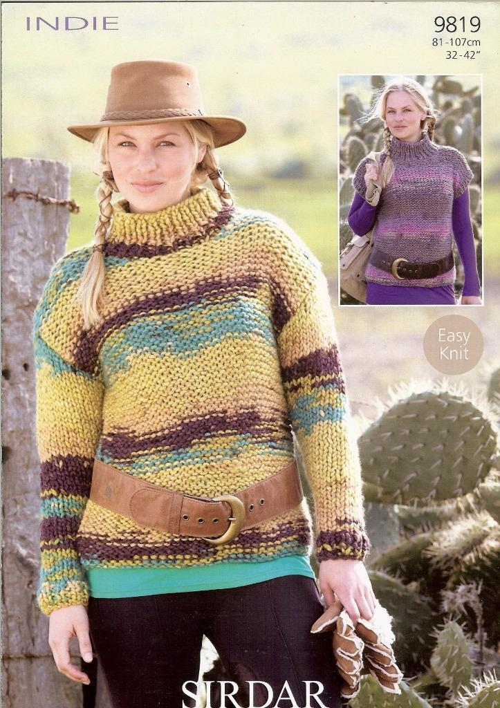 Knitting Patterns Lion Brand : 9819 SIRDAR INDIE SUPER CHUNKY KNITTING PATTERN LADIES SWEATERS eBay
