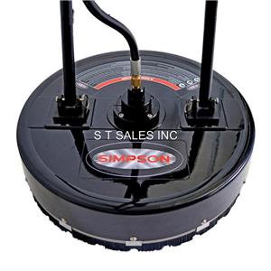 Simpson high pressure washer rotary 18 flat surface for Pressure washer concrete cleaner solution