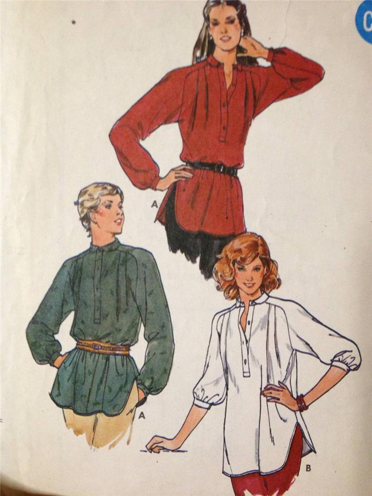 Sewing-Pattern-No-6753-Butterick-Ladies-Blouse-Size-12